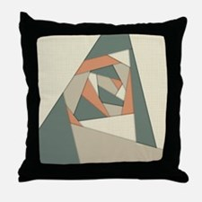 Earth Tone Shapes Construct Throw Pillow