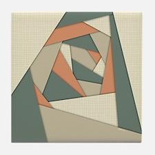 Earth Tone Shapes Construct Tile Coaster