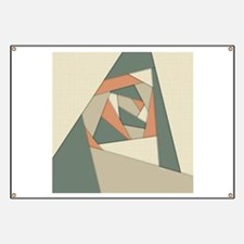 Earth Tone Shapes Construct Banner