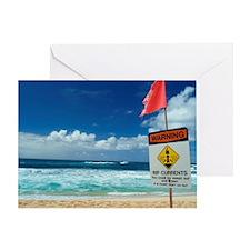 No swimming warning Greeting Card