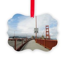 golden gate footpath Ornament