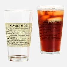 November 9th Drinking Glass