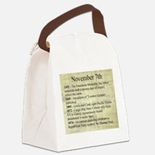 November 7th Canvas Lunch Bag