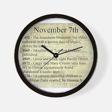 November 7th Wall Clock