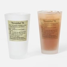 November 7th Drinking Glass