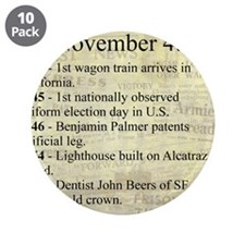 """November 4th 3.5"""" Button (10 pack)"""