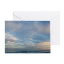 Refugio Beach Sunset Sky Greeting Card