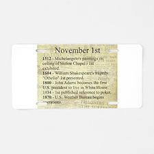 November 1st Aluminum License Plate