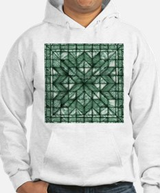 Green Marble Quilt Hoodie