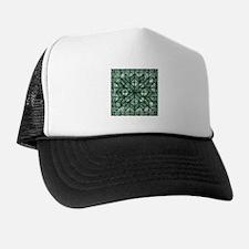 Green Marble Quilt Trucker Hat