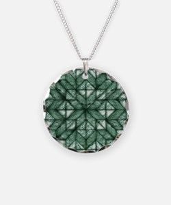 Green Marble Quilt Necklace