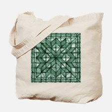 Green Marble Quilt Tote Bag