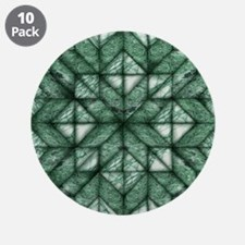 """Green Marble Quilt 3.5"""" Button (10 pack)"""