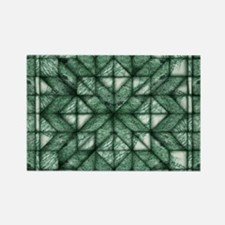 Green Marble Quilt Rectangle Magnet (10 pack)