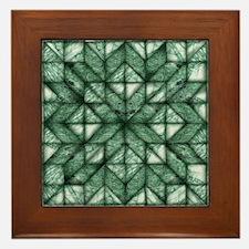 Green Marble Quilt Framed Tile