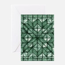 Green Marble Quilt Greeting Card