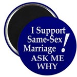I Support Same-Sex Marriage Magnet