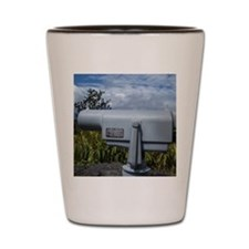 coin operated telescope Shot Glass