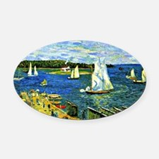 Glackens - Mahone Bay Oval Car Magnet