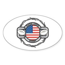 USA Hard Core Rugby Decal
