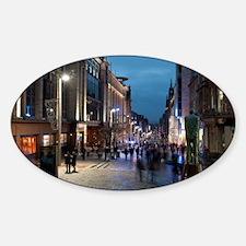 Buchanan street Glasgow at night Sticker (Oval)