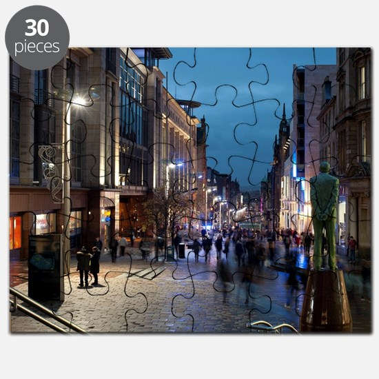 Buchanan street Glasgow at night Puzzle