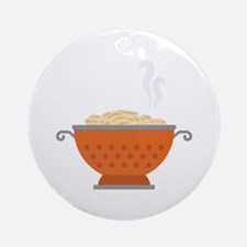 Italian Pasta Dish Food Ornament (Round)