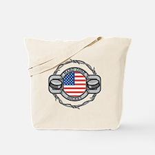USA Hard Core Hockey Tote Bag