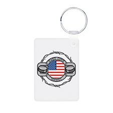 USA Hard Core Hockey Keychains