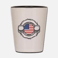 USA Hard Core Golf Shot Glass