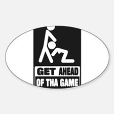 GET AHEAD OF THE GAME Oval Decal