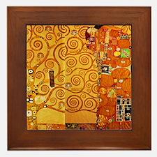 Gustav Klimt Tree of Life Art Nouveau Framed Tile