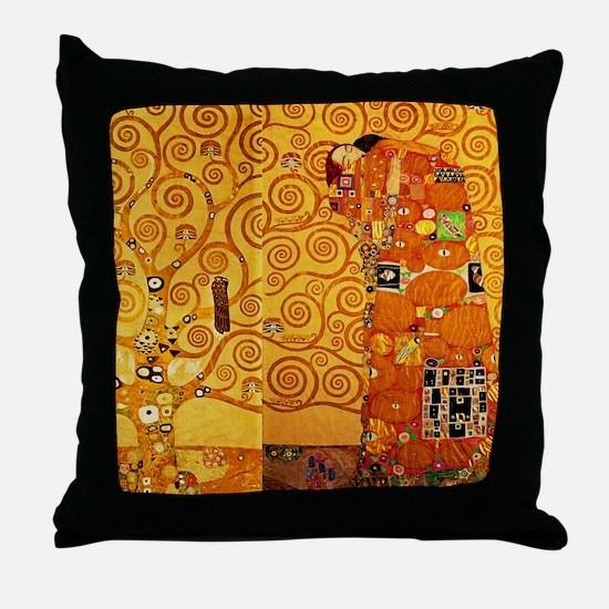 Gustav Klimt Tree of Life Art Nouveau Throw Pillow
