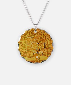 Gustav Klimt Tree of Life Art Nouveau Necklace