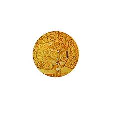 Gustav Klimt Tree of Life Art Nouveau Mini Button