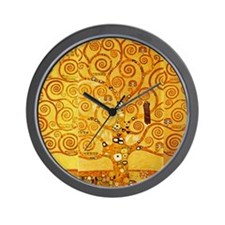 Gustav Klimt Tree of Life Art Nouveau Wall Clock