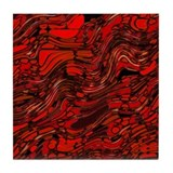 Glass red abstract Drink Coasters