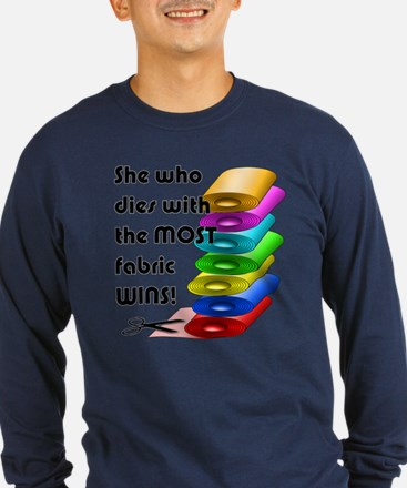 She who dies with the most fabric wins! T