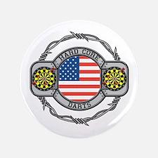 """USA Hard Core Darts 3.5"""" Button"""