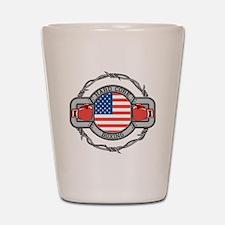 USA Hard Core Boxing Shot Glass