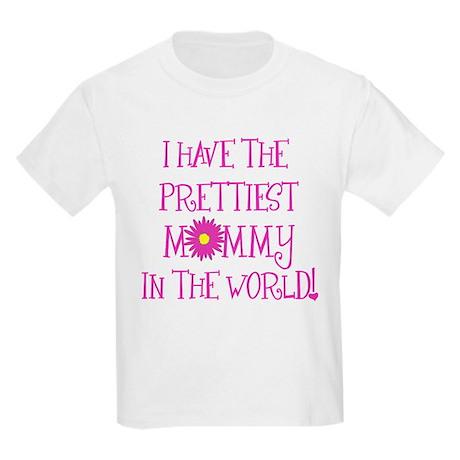 Prettiest Mom Kids Light T-Shirt