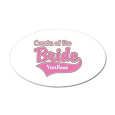 Cousin of the Bride 35x21 Oval Wall Decal