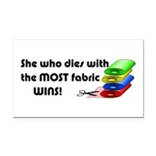 She who dies with the most fabric wins! Rectangle