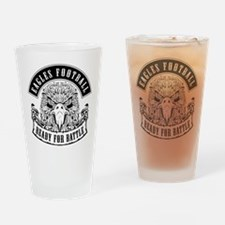 Eagles Football Ready for Battle Drinking Glass