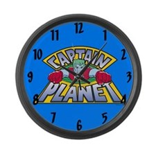 Captain Planet Large Wall Clock
