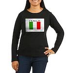 Italy Flag II Women's Long Sleeve Dark T-Shirt