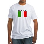 Italy Flag II Fitted T-Shirt