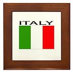 Italy Flag II Framed Tile