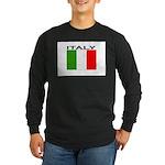 Italy Flag II Long Sleeve Dark T-Shirt