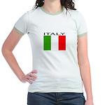 Italy Flag II Jr. Ringer T-Shirt